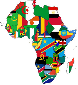 Africa-continent-with-flags